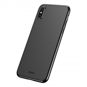 Baseus Ultra Thin 0.4mm - iPhone XS / X ultravékony tok - fekete