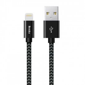 Benks Amber - Lightning USB kábel - fekete 1.2m (Apple MFI)