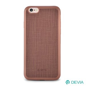 Devia Jelly Slim Texture - iPhone 6 / 6S TPU tok - barna