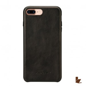 Jisoncase Slim Leather - iPhone 8 Plus / iPhone 7 Plus bőrtok - fekete