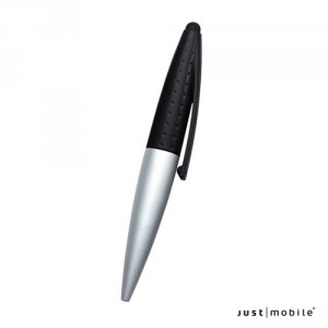 Just Mobile AluPen Twist L - iPhone / iPod / iPad stylus és toll - ezüst / fekete
