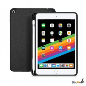Khomo Strong Cover - iPad mini 5 (2019) / iPad mini 4 hátlapi tok Apple Pencil tartóval - sötétszürke