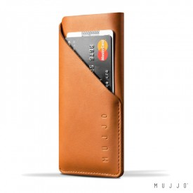 Mujjo Leather Wallet Sleeve - iPhone 6 / 6S / 7 / 8 belecsúsztatós bőrtok - barna