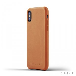 Mujjo Leather Slim - iPhone XS / X valódi bőr tok - barna
