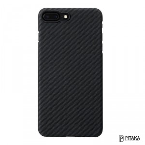 Pitaka Aramid Fiber - iPhone 8 Plus / iPhone 7 Plus extrém erős vékony tok - fekete