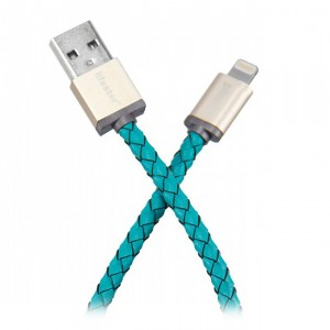 PlusUs LifeStar Cable - Cross Turquoise - Lightning USB kábel 1m - türkiz