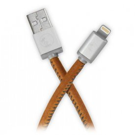 PlusUs LifeStar Cable - Vintage Tan - Lightning USB kábel 1m - barna