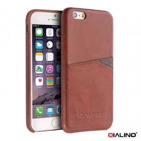 Qialino Leather Wallet - iPhone 6 Plus / 6S Plus bőrtok - barna