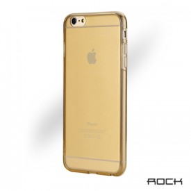 Rock Ultra Thin 0.6mm - iPhone 6 Plus / 6S Plus szilikon tok - arany / átlátszó