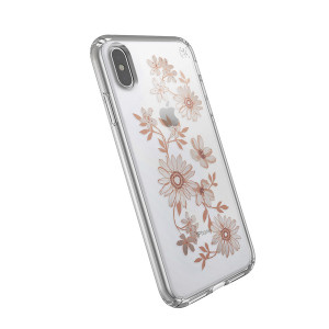 Speck Presidio Clear Print - iPhone XS / X tok -  áttetsző / Fairytalefloar Peach Gold