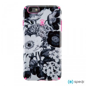 Speck CandyShell Inked  - iPhone 6 / 6S tok - Vintage Bouquet Grey / Shocking Pink