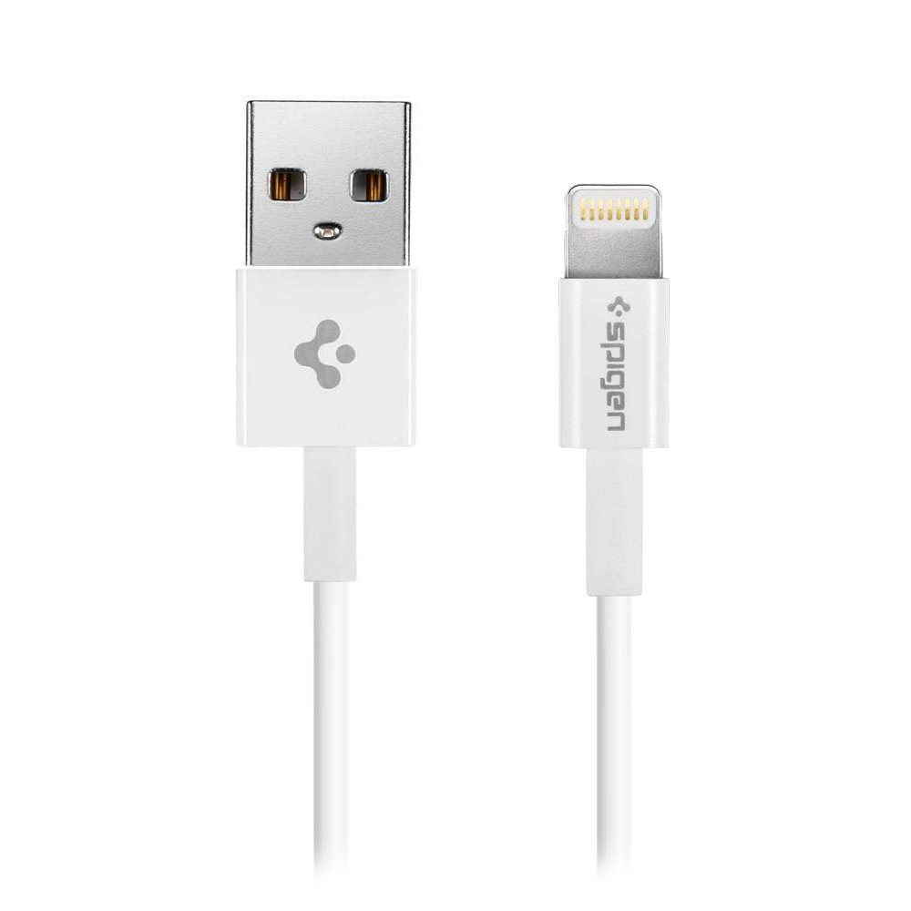 Spigen Essential C10LS Cable - Lightning USB kábel - fehér 1m (Apple MFI)