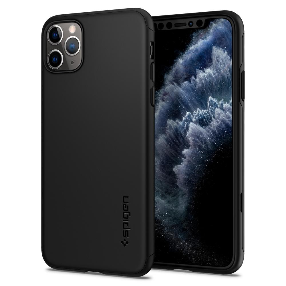 Spigen Thin Fit Classic - iPhone 11 Pro  tok - fekete