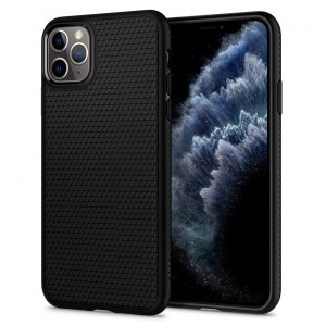 Spigen Liquid Air Armor - iPhone 11 Pro Max  tok - fekete