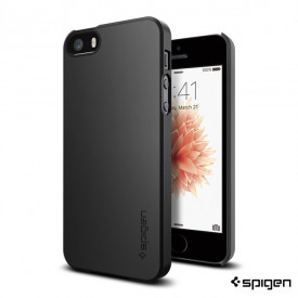Spigen Thin Fit - iPhone 5 / 5S / SE tok - fekete