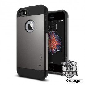 Spigen Tough Armor - iPhone 5 / 5S / SE ütésálló tok - gunmetal