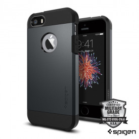 Spigen Tough Armor - iPhone 5 / 5S / SE ütésálló tok - metal slate