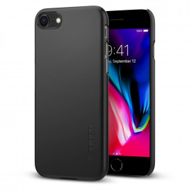 Spigen Thin Fit - iPhone 8 / iPhone 7 tok - fekete
