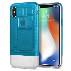 Spigen Classic Series - iPhone X tok - Blueberry