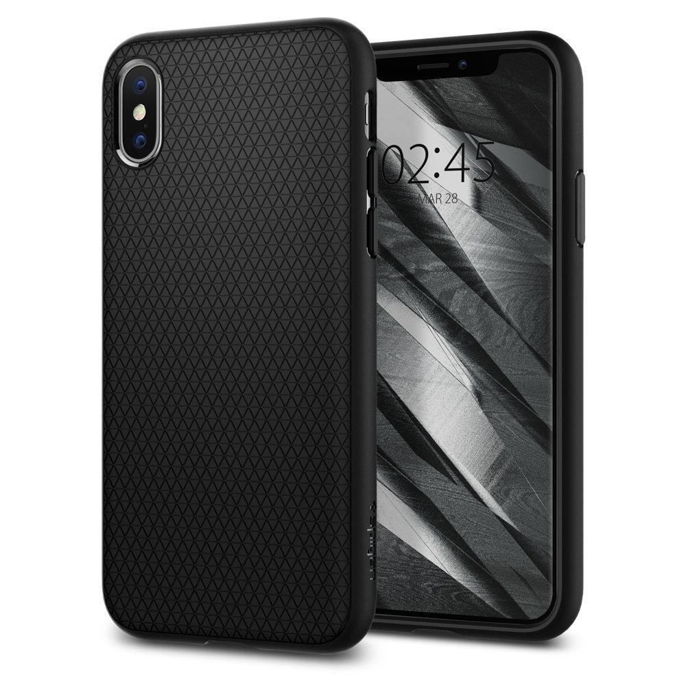 Spigen Liquid Air Armor - iPhone XS / X tok - fekete