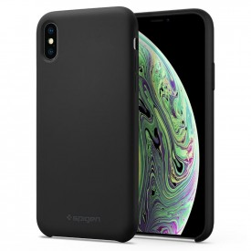 Spigen Silicone Fit - iPhone XS / X tok - fekete