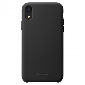 Spigen Silicone Fit - iPhone XR tok - fekete