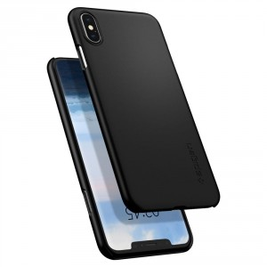 Spigen Thin Fit - iPhone XS Max tok - fekete