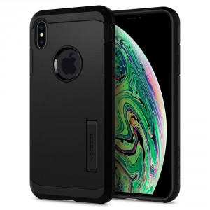Spigen Tough Armor - iPhone XS Max tok - fekete