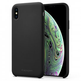 Spigen Silicone Fit - iPhone XS Max tok - fekete