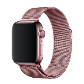 Tech-Pro Milanese Band - Apple Watch 1/2/3/4 (38 / 40mm) fémszíj - roze gold