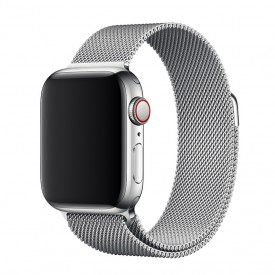 Tech-Pro Milanese Band - Apple Watch 1/2/3/4 (42 / 44mm) fémszíj - ezüst