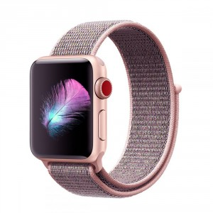 Tech-Pro Nylon Band - Apple Watch 1/2/3/4/5 (42/44mm) szíj - pink