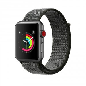 Tech-Pro Nylon Band - Apple Watch 1/2/3/4/5 (42/44mm) szíj - szürke / oliva