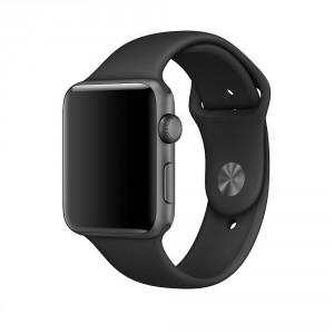 Tech-Pro Smooth Band - Apple Watch 1/2/3/4/5 (38/40mm) sportszíj - fekete