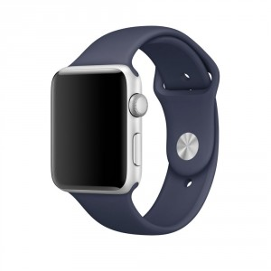 Tech-Pro Smooth Band - Apple Watch 1/2/3/4/5 (42/44mm) sportszíj - éjkék
