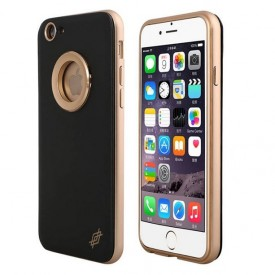 c9d25e05649f X-Doria Bump Leather - iPhone 6 / 6S bőr tok - arany / fekete