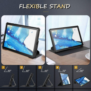 """Infiland Multiple Angels - Samsung Galaxy Tab A7 10.4"""" T500/T505 tok - fekete"""