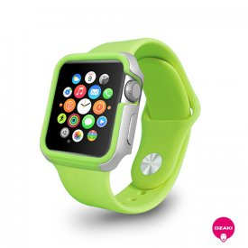 Ozaki O!coat Shockband - Apple Watch 1/2/3 (38mm) extrém védőkeret - zöld