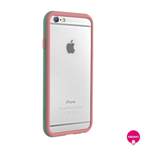 Ozaki O!coat Shock Band - iPhone 6 / 6S bumper - pink / szürke