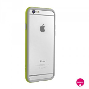 Ozaki O!coat Shock Band - iPhone 6 / 6S bumper - szürke / wasabi